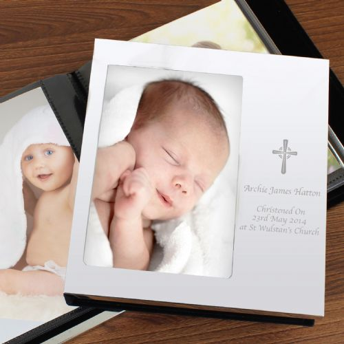 Personalised Cross Photo Album 6x4